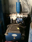 200 lb. Nordson Hopper with AZO Sieve and 20+ Pumps