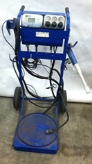 Nordson Surecoat Manual Powder Coat Gun with Hopper Stand