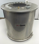ITW GEMA 100 LB Stainless Steel Hopper