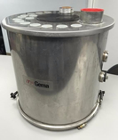ITW GEMA 100 LB Stainless Steel Hopper with Level Probe Wells