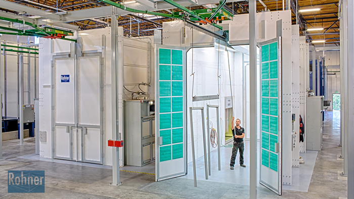 Rohner Powder Coating Booth
